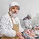 Boucher avec onglet de bœuf